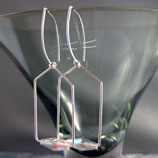 Sterling Silver House Earring Hoops