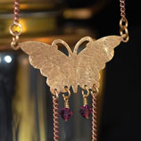 Butterfly Necklace & Amethyst Swarovski Crystal